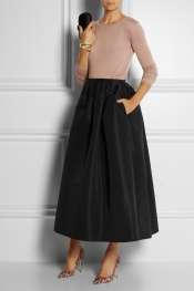 RED VALENTINO Taffeta maxi skirt