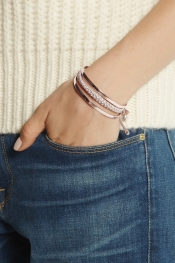 MONICA VINADER Fiji rose gold-plated bracelet