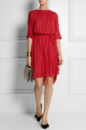 ÉTOILE ISABEL MARANT Zavia brushed-crepe dress