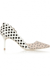 J.CREW + Sophia Webster cutout leather and printed twill pumps