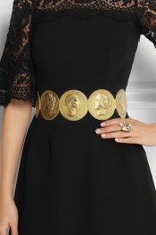 DOLCE & GABBANA Oversized gold-tone coin belt