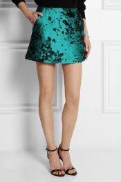 MICHAEL VAN DER HAM Jacquard mini skirt