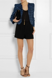 CHLOÉ Medallion printed plissé silk-blend jacket