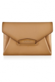 GIVENCHY Antigona envelope clutch in camel vintage-effect leather