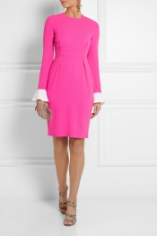 ROKSANDA ILINCIC Izumi color-block wool-crepe dress