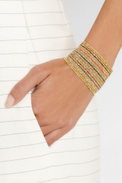 CAROLINA BUCCI Woven 18-karat gold cuff