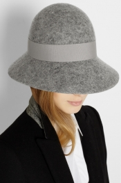 STELLA MCCARTNEY Wide-brim wool-felt hat