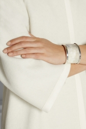 ISABEL MARANT Silver-tone faux horn cuff