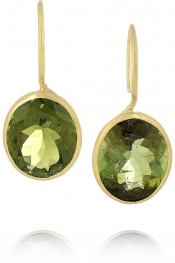 MARIE-HÉLÈNE DE TAILLAC 22-karat gold tourmaline earrings