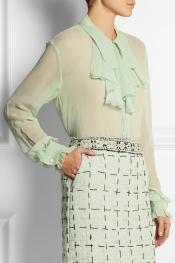MEADHAM KIRCHHOFF Blythe ruffled silk-chiffon shirt