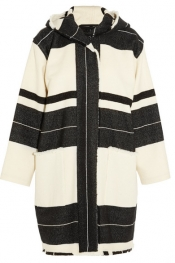 ISABEL MARANT Adil hooded striped wool-blend coat