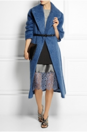 TOPSHOP UNIQUE Oversized mohair-blend blanket coat