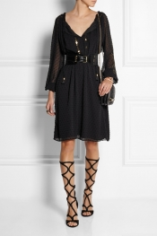 ALTUZARRA FOR TARGET Sequined Swiss-dot chiffon dress