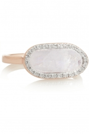 MONICA VINADER Vega rose gold-plated, moonstone and diamond ring
