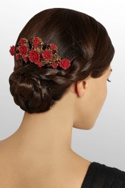 DOLCE & GABBANA Swarovski crystal-embellished hair comb