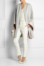 FENDI Two-tone cashmere coat