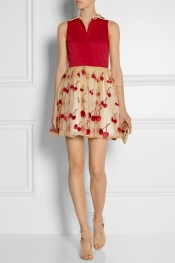 ALICE + OLIVIA Cherry Pouf cotton-blend and tulle dress