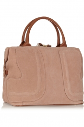SEE BY CHLOÉ Bluebell leather-trimmed suede tote
