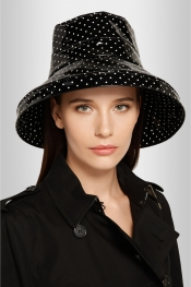 DOLCE & GABBANA Polka-dot coated cotton rain hat