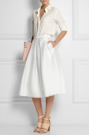 BURBERRY LONDON Polka-dot fil coupé skirt
