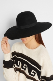 MAISON MICHEL Blanche wide-brim rabbit-felt hat
