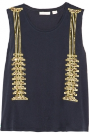 SASS & BIDE On My Terms embellished cotton-jersey top