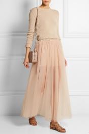 VALENTINO Tulle maxi skirt