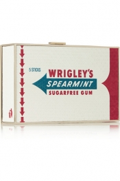 ANYA HINDMARCH Wrigley's Imperial Spearmint Gum elaphe clutch