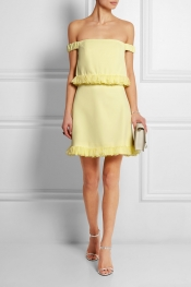 TOPSHOP UNIQUE Ruffled crepe mini dress