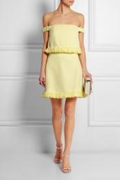 TOPSHOP UNIQUE Ruffled crepe mini dress