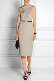 JASON WU Gathered belted stretch-jersey dress