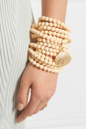 ROSANTICA Spiaggia bone, resin and gold-tone bracelet