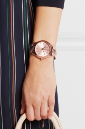 MICHAEL KORS Runway rose gold-tone and acetate watch