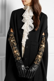 DOLCE & GABBANA Embellished leather gloves