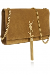 SAINT LAURENT Monogramme medium suede shoulder bag