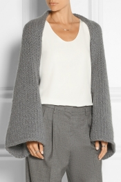 CO Wool and angora-blend shrug