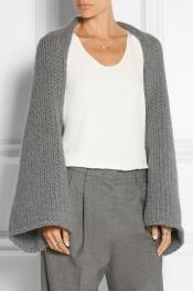 CO Wool and angora-blend shrug