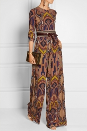 ETRO Printed stretch-crepe jumpsuit