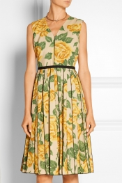 MARC JACOBS Floral-print poplin dress