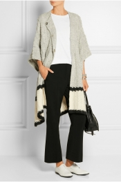 ELIZABETH AND JAMES Textured-knit wrap