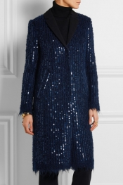 TORY BURCH Sequined knitted coat