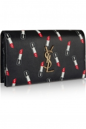 SAINT LAURENT Monogramme printed leather clutch