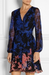DIANE VON FURSTENBERG Celia printed silk-chiffon mini dress