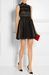 ALICE + OLIVIA Taya embellished organza and tulle mini dress