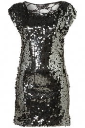 Lace Back sequin dress by Rare
