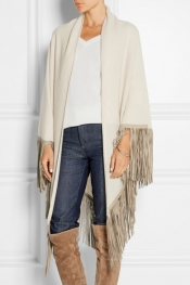 BARBAJADA Fringed cashmere scarf