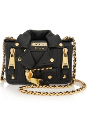 MOSCHINO Jacket leather shoulder bag