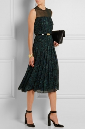 JASON WU Belted printed georgette dress