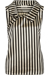MONSE Striped duchesse silk-satin top