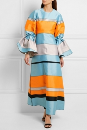 ROKSANDA Eden striped satin maxi dress